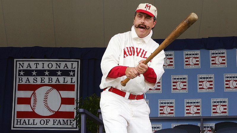 Mighty Casey often is brought to life for appearances at the Baseball Hall of Fame.
