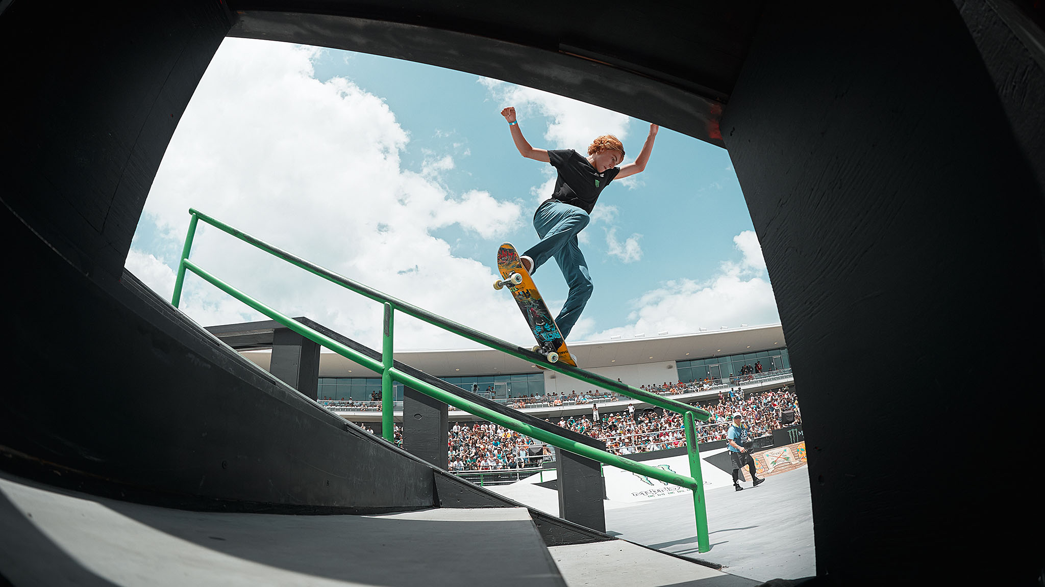 X Games Munich 2013 Skateboard Park gold medalist Curren Caples was an alternate for Skateboard Street coming into Austin. Not only did he make it into elims at the last minute, he beat out a heated field of heavy-hitting street skateboarders to qualify for the final on Sunday.