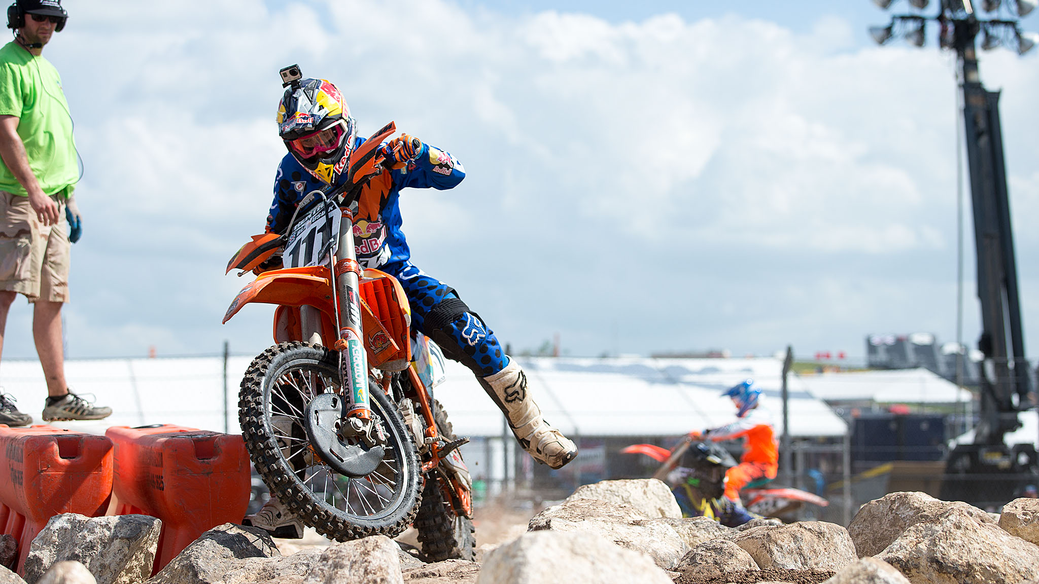 On his way to a fourth Enduro X gold medal, 31-year-old Taddy Blazusiak used a blistering run in the second heat of Round 1 to earn himself a place in the finals.