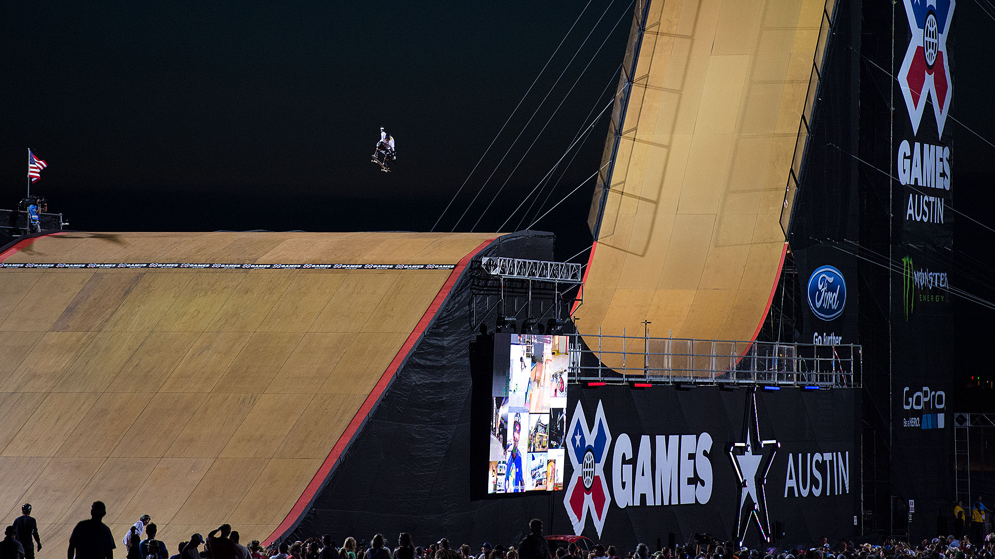 Tom Schaar won Skateboard Big Air in Austin and became the youngest athlete to do so.