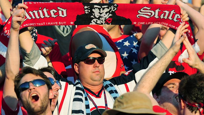 Local American Outlaws chapters gather to watch U.S. soccer at bars -- and at stadiums. The group's leaders have organized a trip to the World Cup in Brazil.