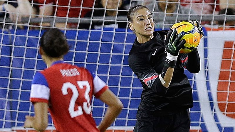 As the U.S. women continue to rev up for CONCACAF qualifying for the 2015 Women's World Cup, the squad faced France in a friendly in Tampa, Florida, on June 14. A 1-0 victory marked Solo's 71st clean sheet, moving her into a tie with Briana Scurry for career shutouts among U.S. women's soccer goalkeepers.
