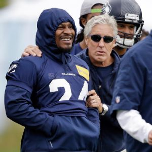 Pete Carroll was glad to see Marshawn Lynch report to the Seahawks' mandatory minicamp.