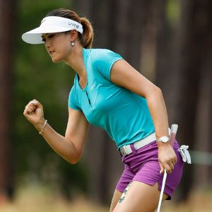 A new putting stance has made a world of difference to Michelle Wie and helped her take control of her game.