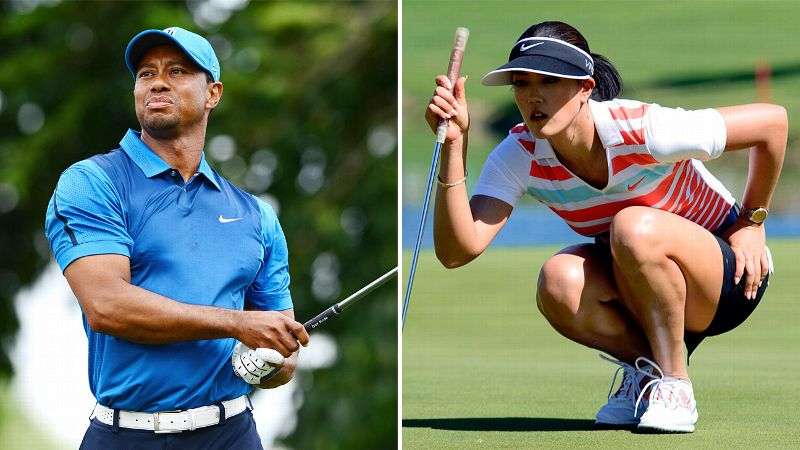 Tiger Woods and Michelle Wie