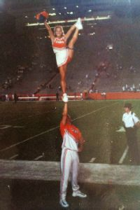 Alyssa Roenigk, pictured while in college at Florida, says that no matter how athletic cheerleaders are, cheerleading should not be considered a sport.