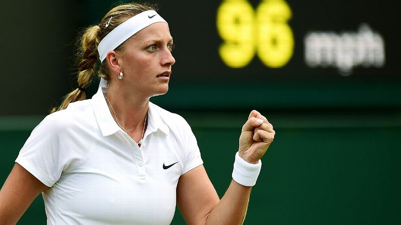 Back in 2011, Kvitova went all the way at Wimbledon, knocking off Victoria Azarenka in the semifinal and Maria Sharapova in the final. That remains her only major trophy, but the 24-year-old from the Czech Republic has won a total of 11 WTA titles. The No. 6 seed takes on Barbora Zahlavova Strycova next.