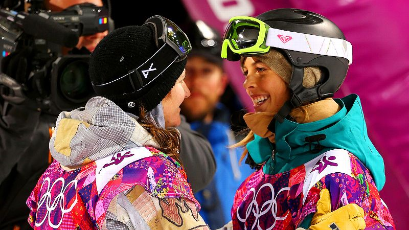 Torah Bright, right, gave Kelly Clark two all-important hugs when Clark needed them most during the Olympic finals.