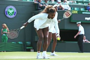 Serena Williams was resting a day after her bizarre doubles default at Wimbledon.