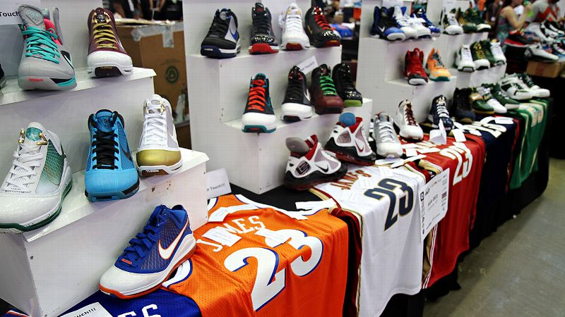 Some of the sneakers on display at Cleveland's Got Sole, an event that brought enthusiasts together and helped raise money for the Children's Tumor Foundation.