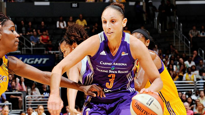 The undisputed leader of the undisputed leading team in the WNBA, Taurasi is still turning out extraordinary seasons at the age of 32. She ranks sixth in the league in scoring (17.1) and first in assists (5.7). i-- Michelle Smith/i