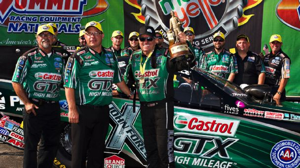 How will the departure of crew chief Jimmy Prock impact John Force's quest for a 17th NHRA title?