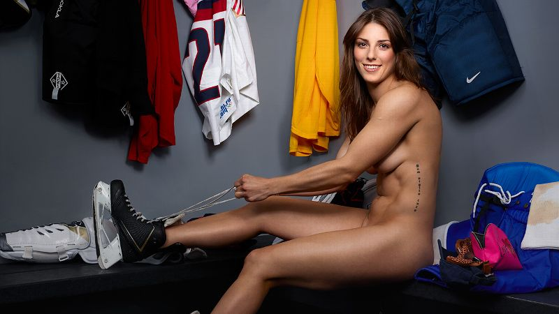 I was surprised how comfortable I felt around everybody, Hilary Knight says of her Body Issue photo shoot. I mean, I've got a body, they've got bodies. What's the big deal?