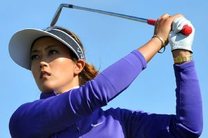 Michelle Wie had five bogeys and struggled to keep the ball in play during the first round of the Women's British Open.