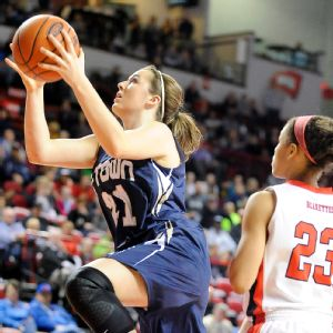 Erin Boley averaged 20.2 points and 9.5 rebounds as a sophomore at Elizabethtown.