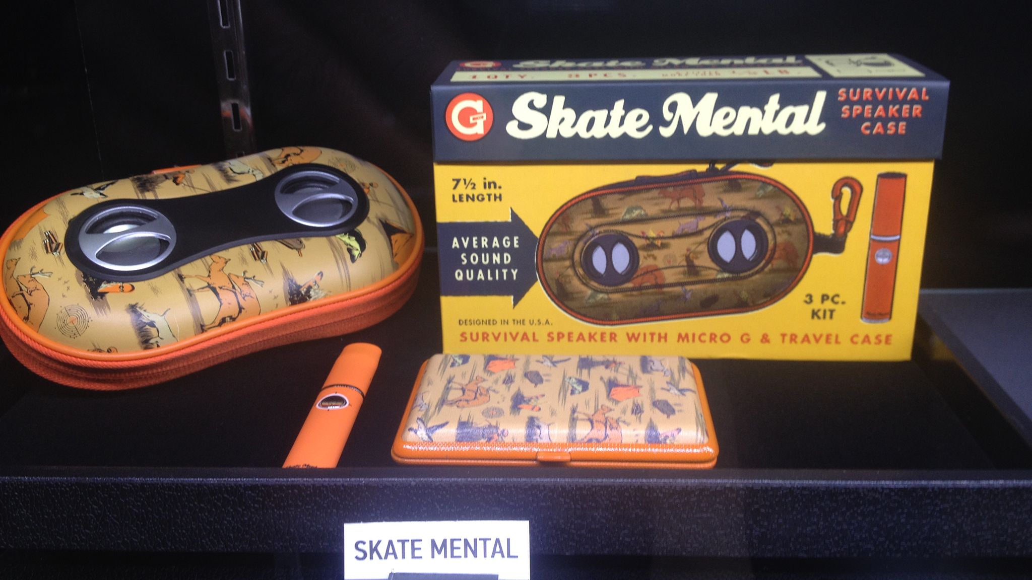 The latest Skate Mental/Grenco Science collaboration, a portable speaker and travel case.