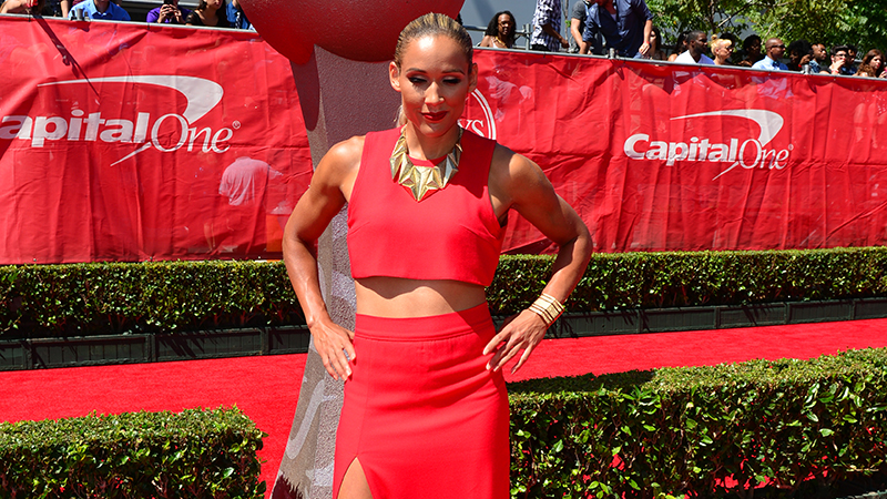 Lolo Jones on The ESPYS red carpet.