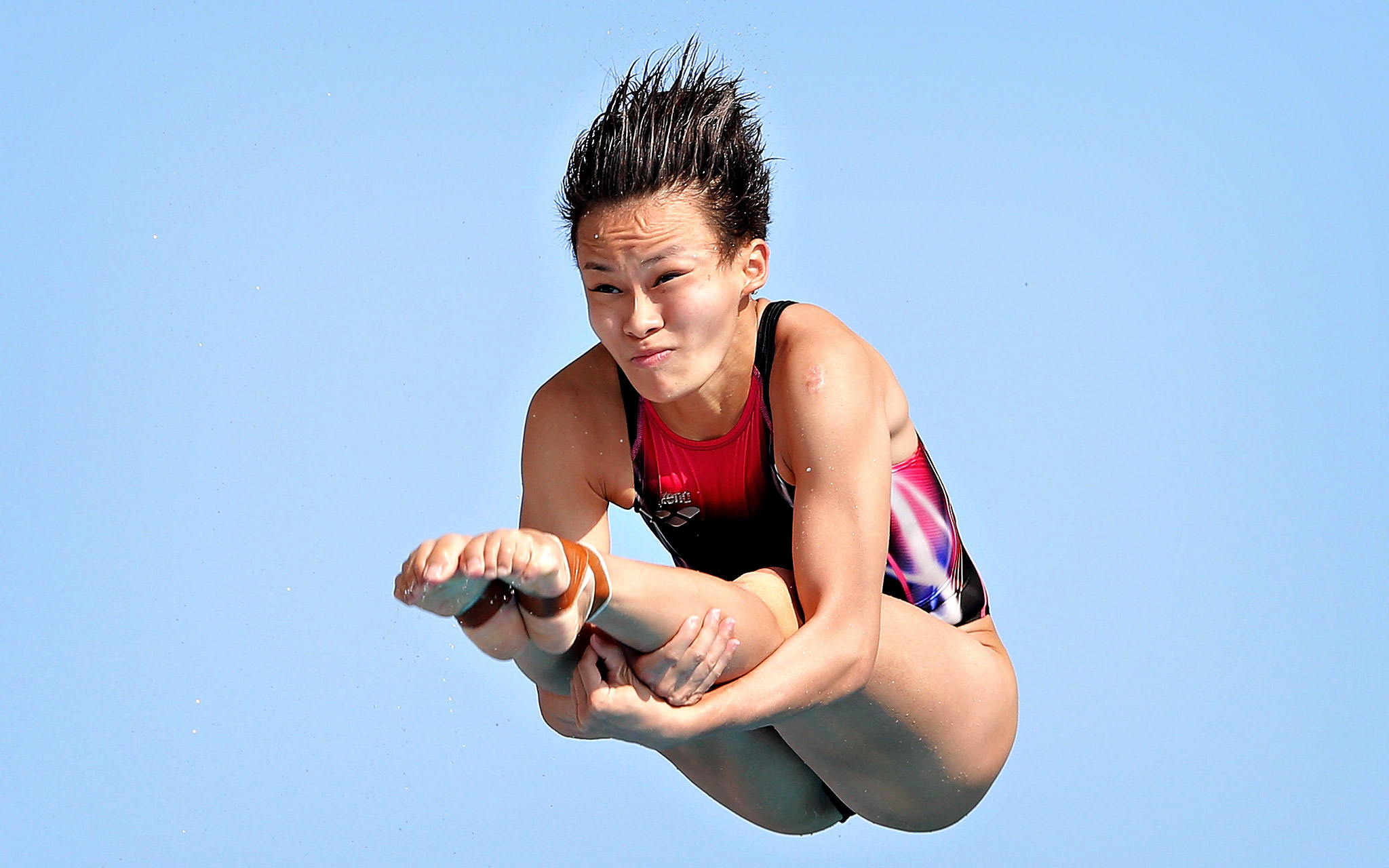 Yan Yee Ng of Malaysia competes in the women's 3-meter springboard final during Day 6 of the 19th FINA Diving World Cup at the Oriental Sports Center in Shanghai.
