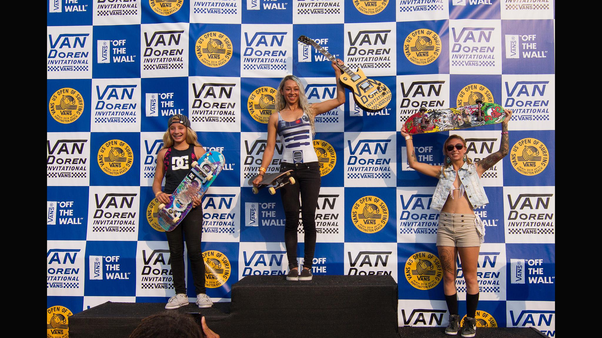 Women's podium