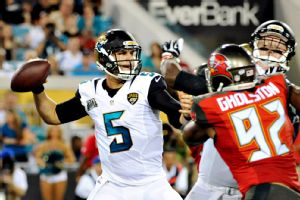 Blake Bortles was able to effectively move the Jaguars' offense in his preseason debut. He is expected to get extended time against the Bears on Thursday night.