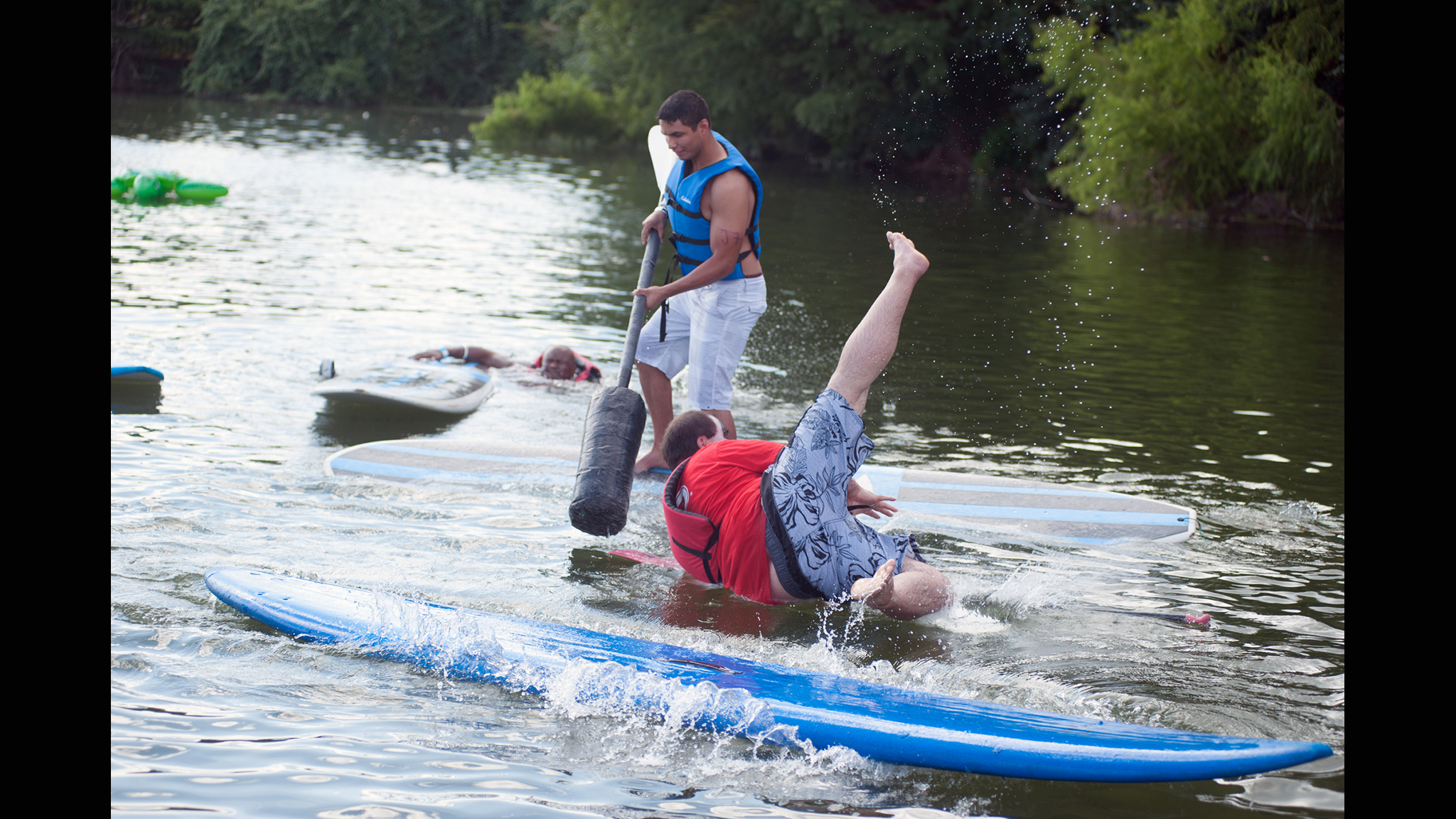 Stand-up paddle board joust