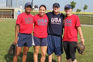 Michelle Moultrie, Destinee Martinez, Laura Berg, Haylie McCleney