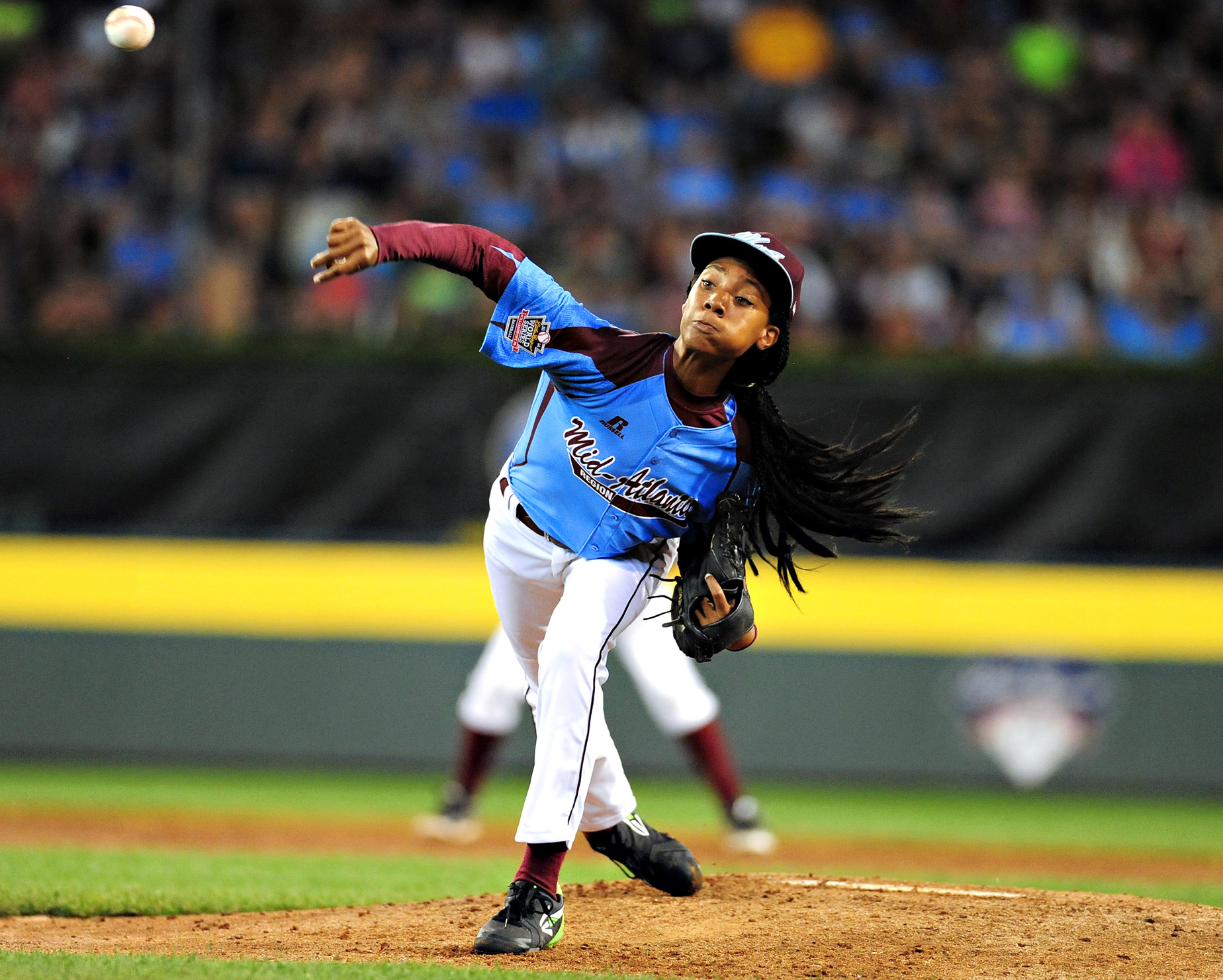 Philadelphia's Mo'ne Davis was the center of attention when she took the mound against Las Vegas at the Little League World Series, but Las Vegas got to her early and scored an 8-1 win.