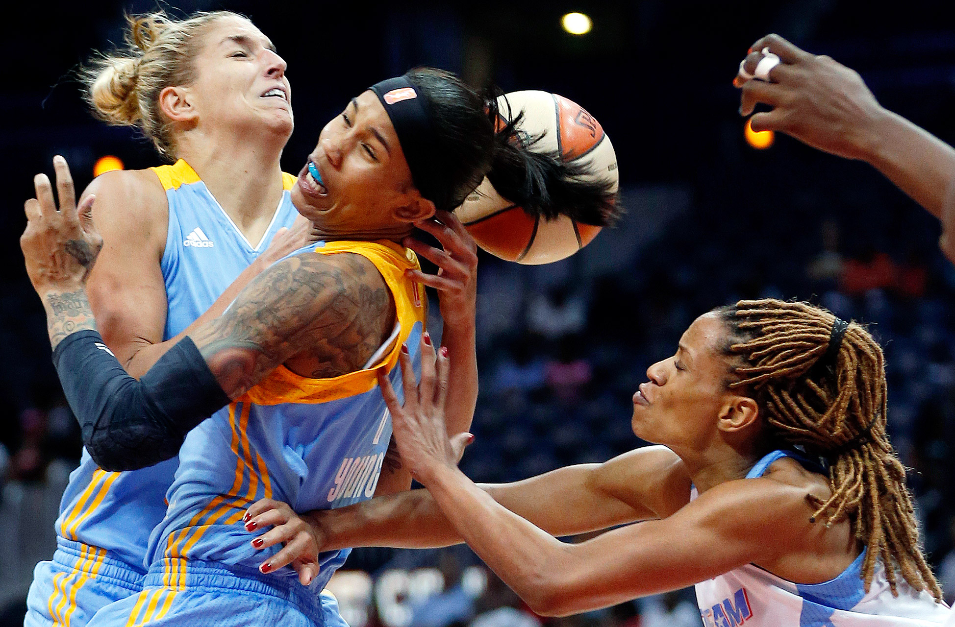 In a frantic fourth quarter, Elena Delle Donne scored 17 points and the Chicago Sky fought back from a 20-point deficit to beat the Atlanta Dream 81-80 and advance to the Eastern Conference finals.