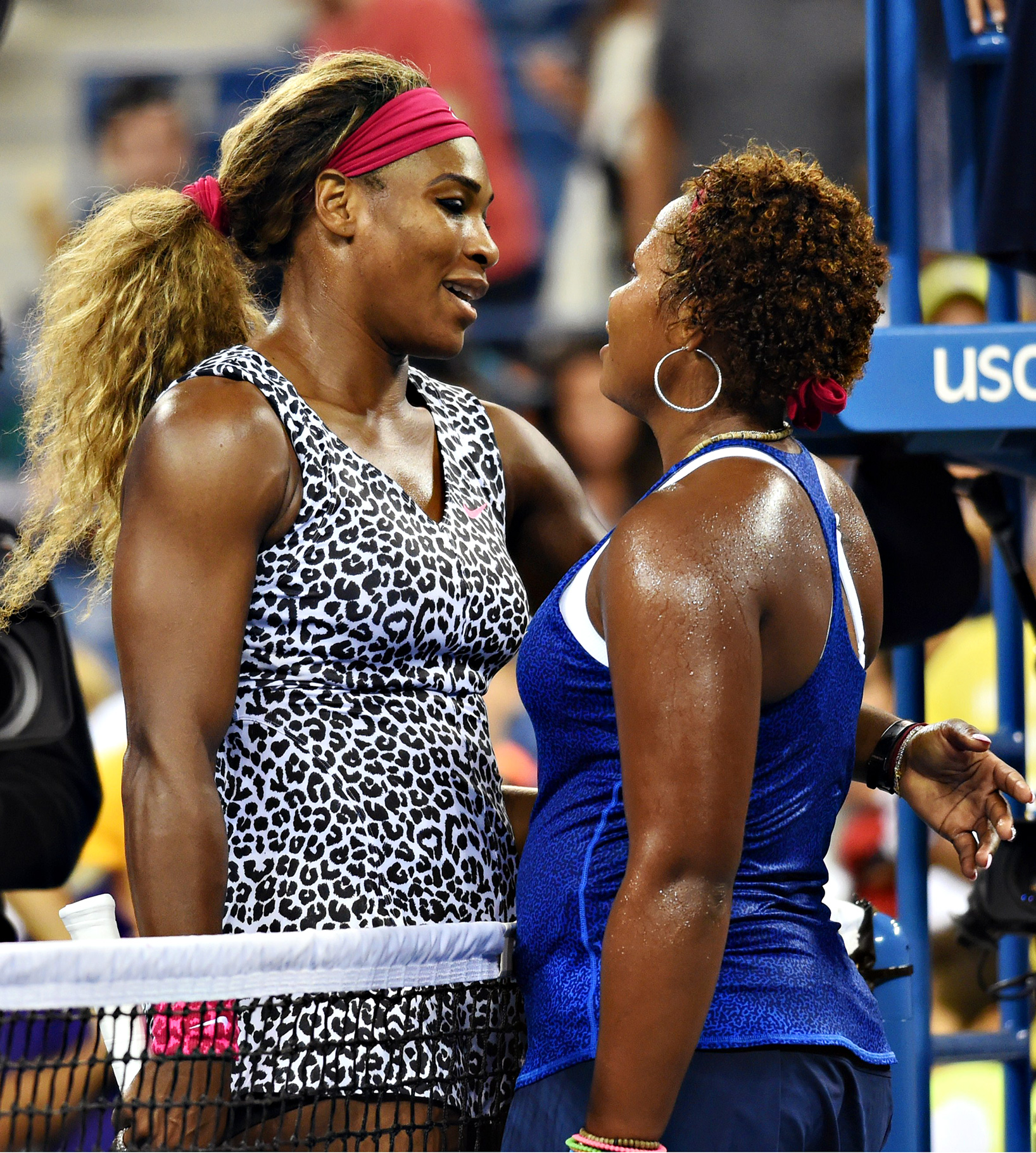 Serena Williams showed rising American 18-year-old Taylor Townsend how it's done, cruising to a 6-3, 6-1 first-round victory Tuesday night at the US Open.