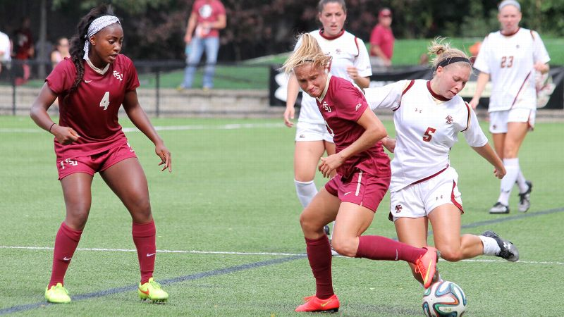 Emma Koivisto of Finland was among three international players who returned to Florida State this week after World Cup qualifying.