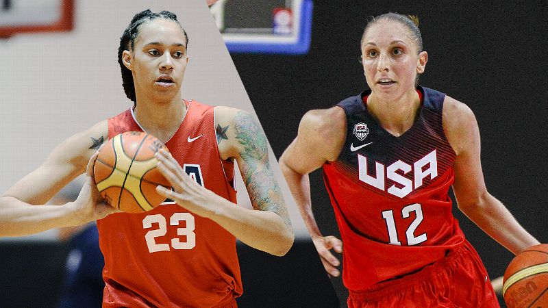 Brittney Griner and Diana Taurasi