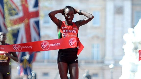 Edna Kiplagat won in London in April and looks like a good bet to win in NYC, too.