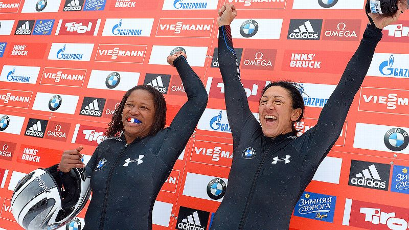 Elana Meyers Taylor and Lauryn Williams