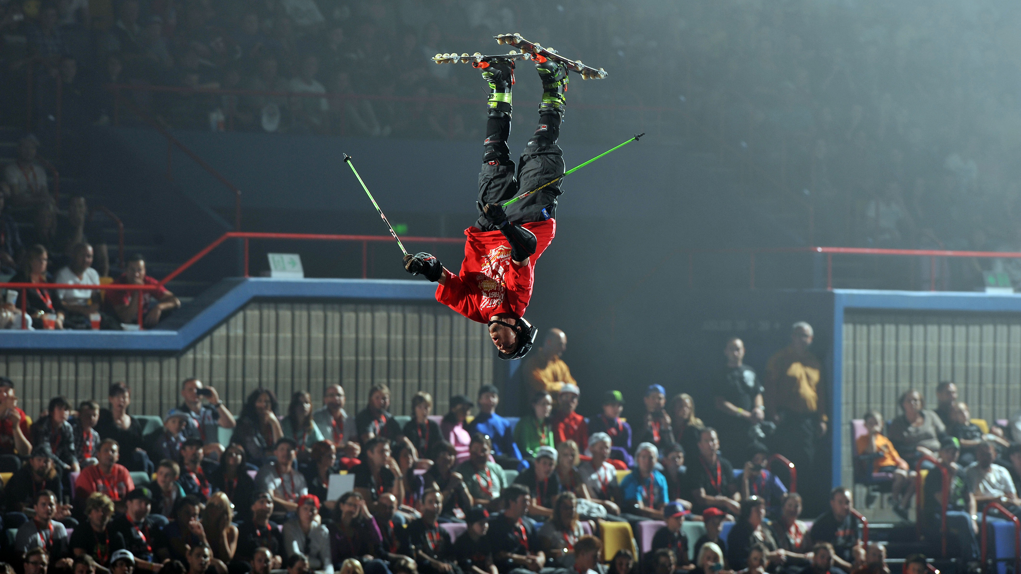 Bushfield joined Travis Pastrana's Nitro Circus Live Tour in 2012, where he performs freestyle ski stunts on roller skis.
