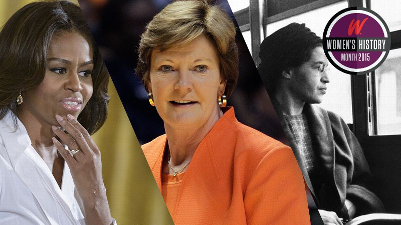 Michelle Obama. Pat Summitt and Rosa Parks