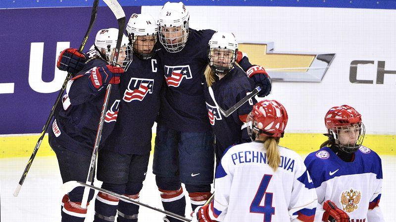 USA, Russia, hockey
