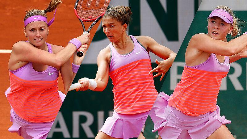 Petra Kvitova, Sara Errani and Carina Witthoeft