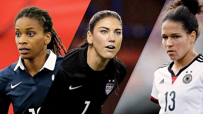 Hope Solo, Elodi Thomis, Celia Sasic