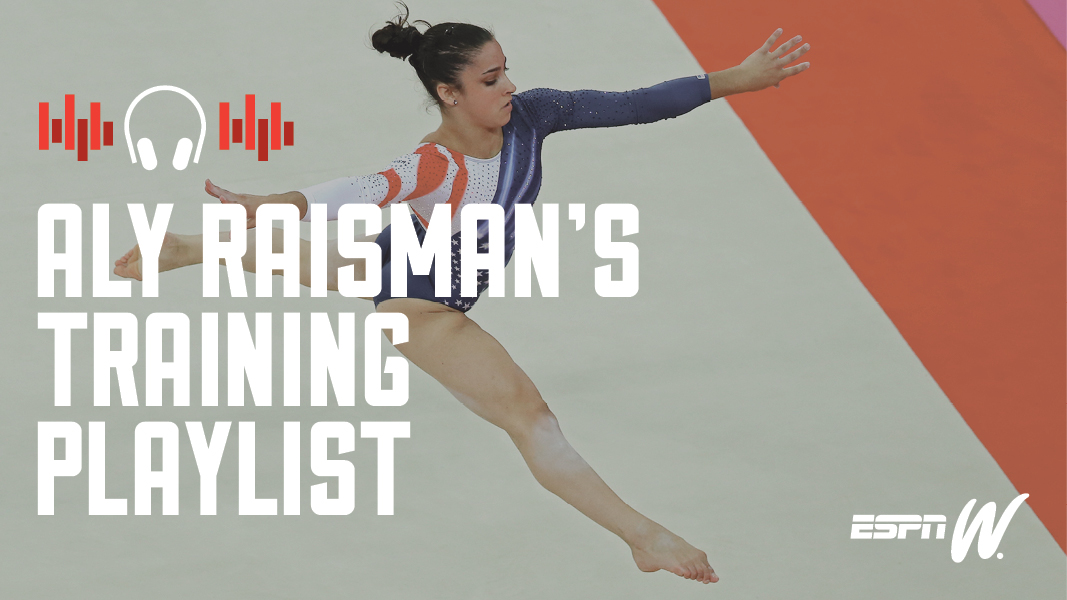 aly raisman spotify training playlist