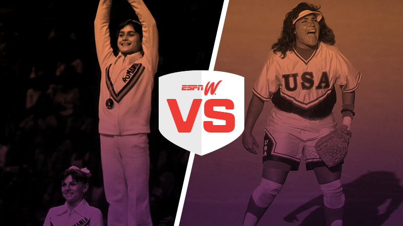 espnW Best Female Athlete Matchup Nadia Comaneci Lisa Fernandez