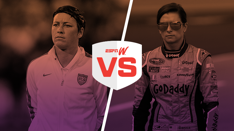 espnW Best Female Athlete Matchup abby wambach danica patrick