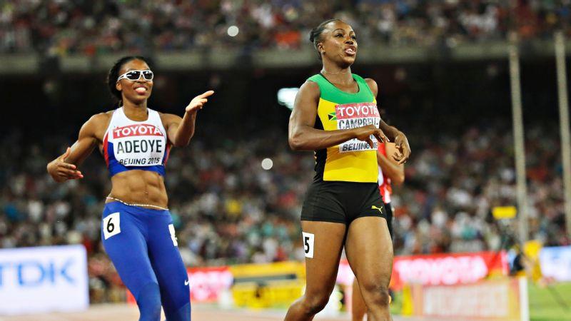 Margaret Adeoye & Veronica Campbell-Brown
