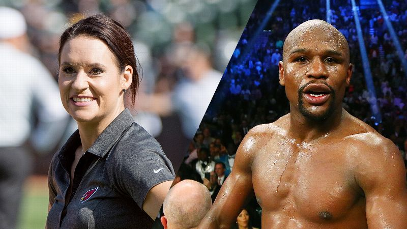 Jen Welter and Floyd Mayweather