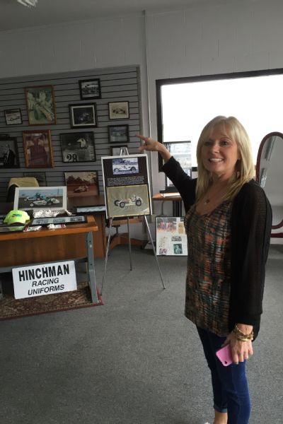 Chumbley shows off the business's long history inside her Hinchman shop.