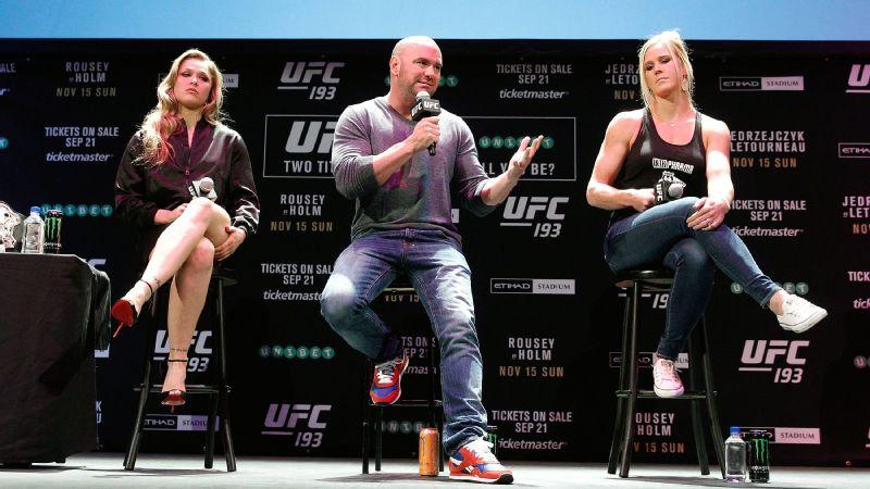 Ronda Rousey, Dana White, Holly Holm