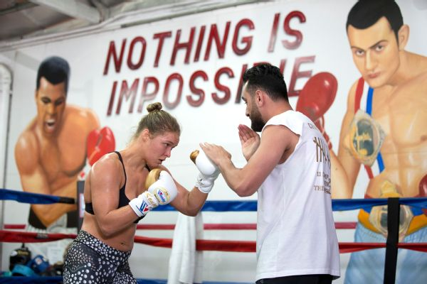Ronda Rousey's trainer Edmond Tarverdyan said he told UFC president Dana White that Rousey will need four months to prepare for her next fight after she finishes filming the movie Road House this spring.