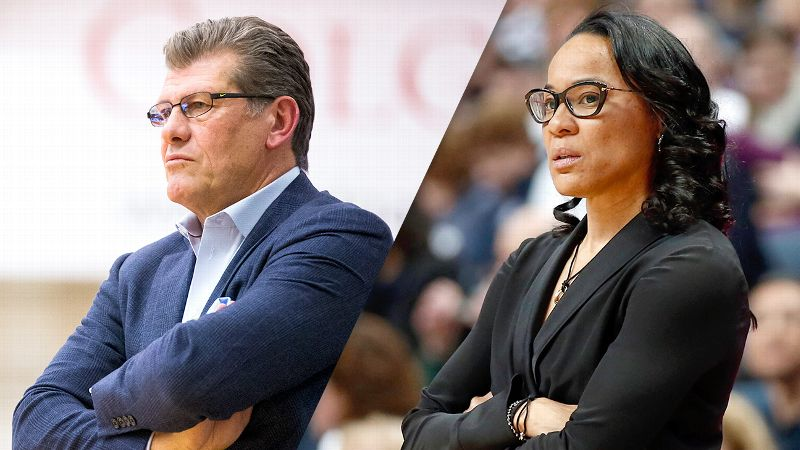 Geno Auriemma and Dawn Staley
