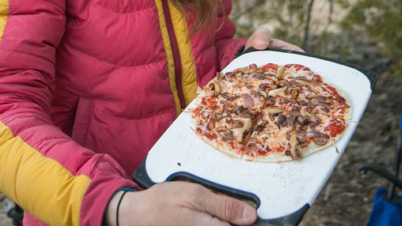 Paige Claassen's tortilla pizza