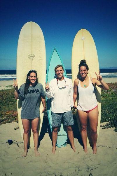 Devon Wills surfing