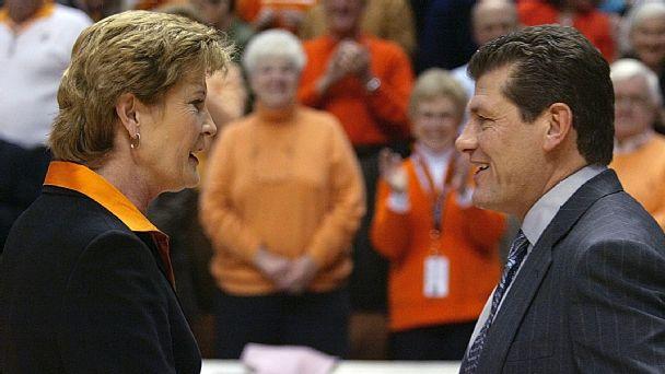 Pat Summitt and Geno Auriemma